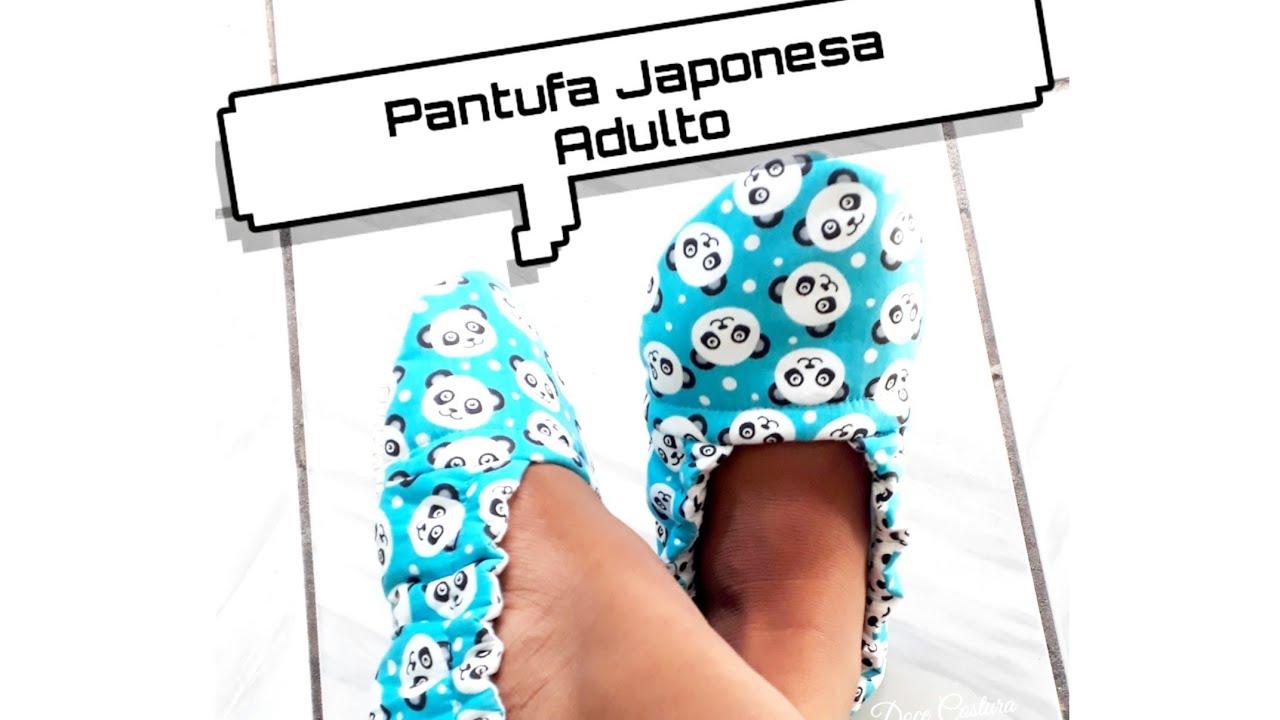 Pantufa Japonesa Adulto/ Faça seu molde!