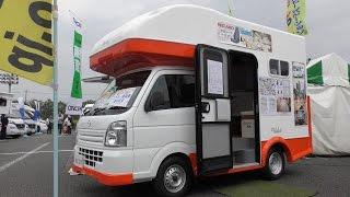 【4K動画】【2017年最新型】軽キャンピングカー(普通車)MCLEY(ディアラジュニア)車中泊(オートキャンプ)JAPAN CAMPING CAR SHOW (Mini Camper)