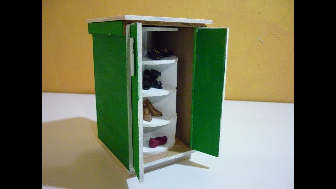como hacer un mueble giratorio de zapatos para mu ecas