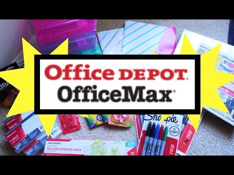 OFFICE DEPOT HAUL 1¢ School Supplies & More Deals!