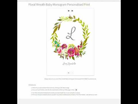 Design and print your own personalised print for free