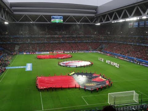 Wales vs Belgium EURO 2016 -  National Anthems - Hen Wlad fy Nhadau + La Brabançonne