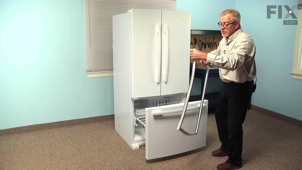 Kenmore Refrigerator Repair How To Replace The Freezer Door Gasket Youtube