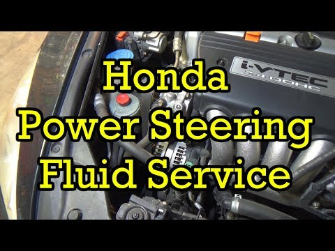 Honda Power Steering Fluid Service/Change