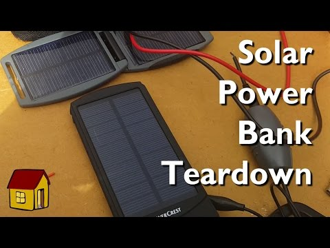 Solar powered phone chargers - do they work? A teardown and test.