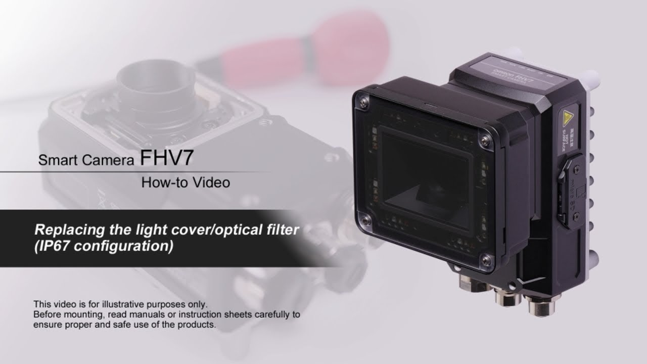 FHV7 How-to Video : Replacing the light cover/optical filter
