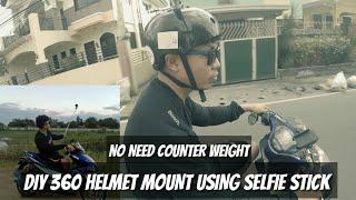 #AEROX155 | DIY 360 HELMET MOUNT USING SELFIE STICK NO NEED COUNTER WEIGHT