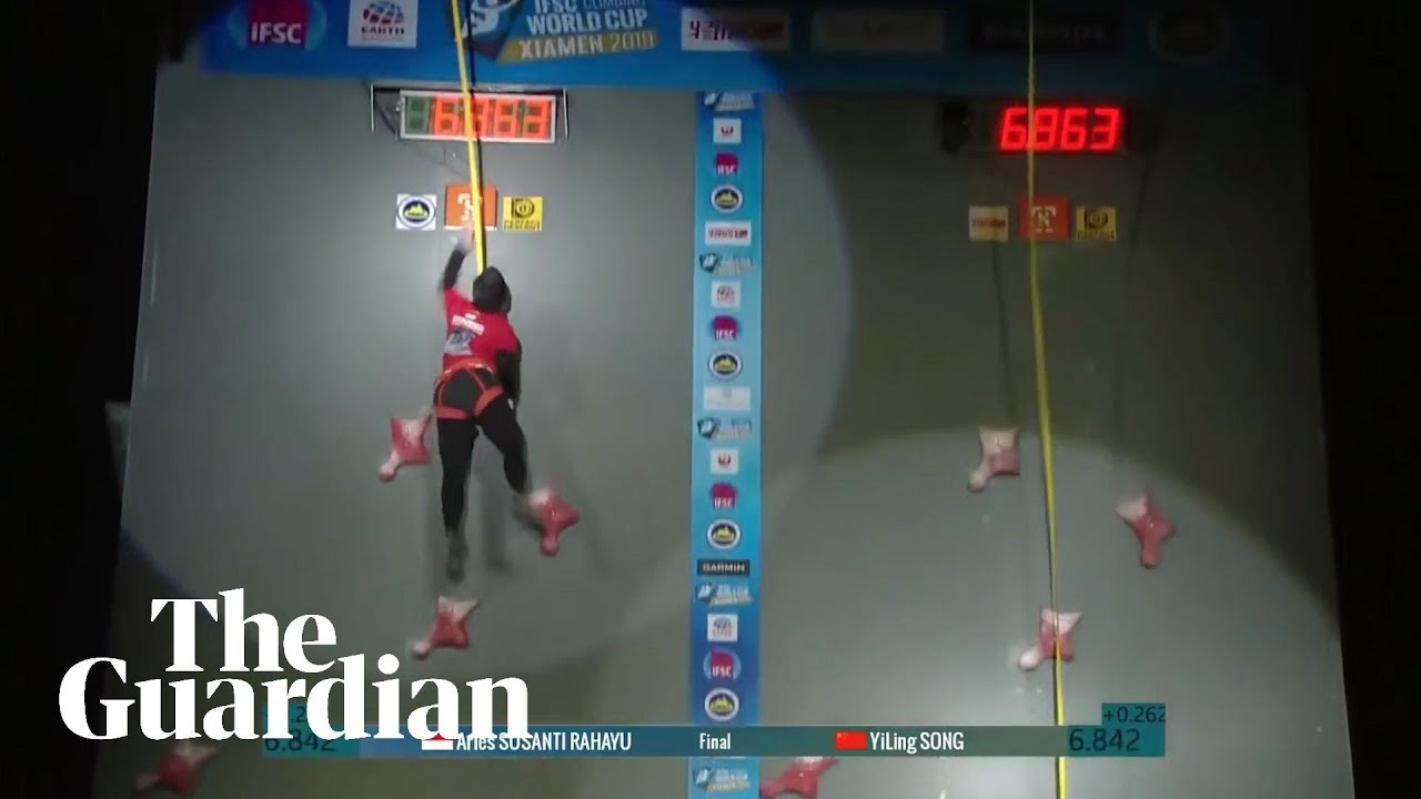 Speed climbing world record