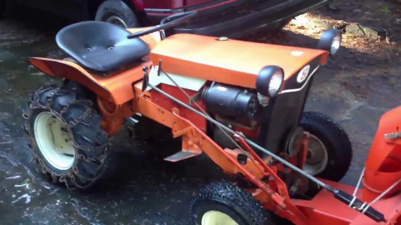 1964 Simplicity Landlord Garden Tractor   YouTube