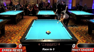 Efren Reyes New 2017 Match !!! v Tracy Sanders ᴴᴰ 2017 Derby City Classic 9-ball Banks R2