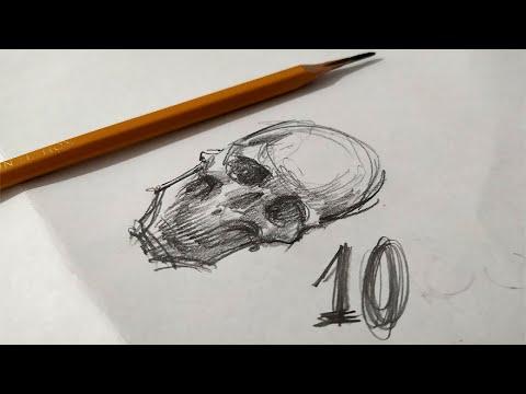 Вопрос: Как нарисовать череп?