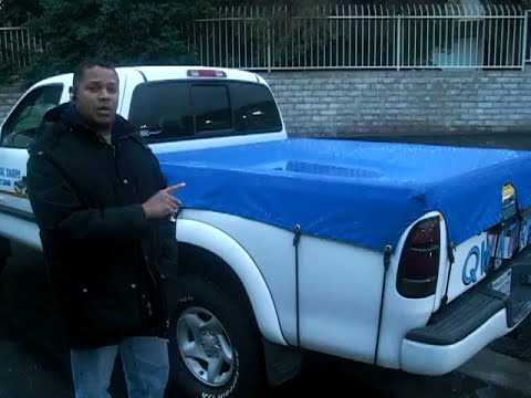 Waterproof fitted truck bed cover youtube for How to cover a bed