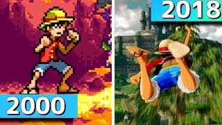 Evolution&History of ONE PIECE games 2000-2018 WORLD SEEKER