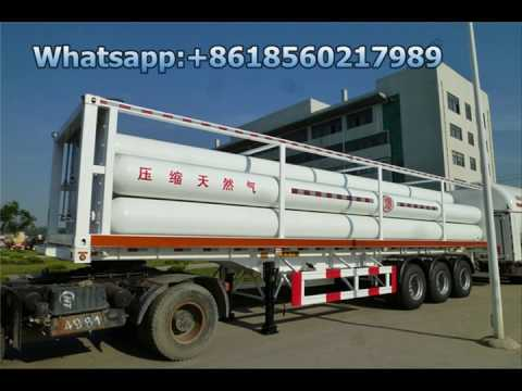 Container tube CNG trailer,Compressed Natural Gas Tube CNG Tank Truck Semi Trailer