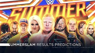 wWE Summerslam 2017 - Results Predictions
