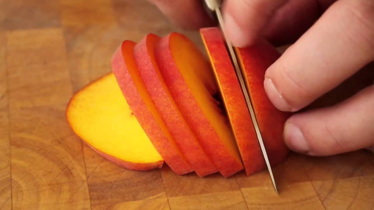 food wishes recipes how to slice a ripe peach random kitchen