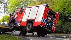 BERGING : Brandweerauto gekanteld onderweg naar bosbrand 🚒  😲