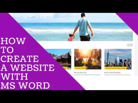 How To Create A Website With Microsoft Word Part 1
