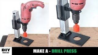 How To Make A Drill Press | Homemade Drill Guide | DIY