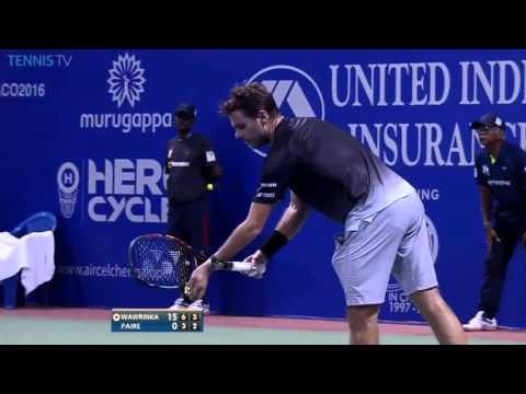 Stan Wawrinka vs Benoit Paire FULL MATCH Chennai OPEN 2016 PART 2