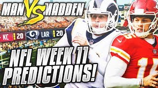Predicting Every Week 11 NFL Winner.... DO YOU AGREE???   Man vs Madden 2018