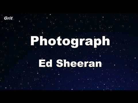 Photograph - Ed Sheeran Karaoke 【No Guide Melody】 Instrumental