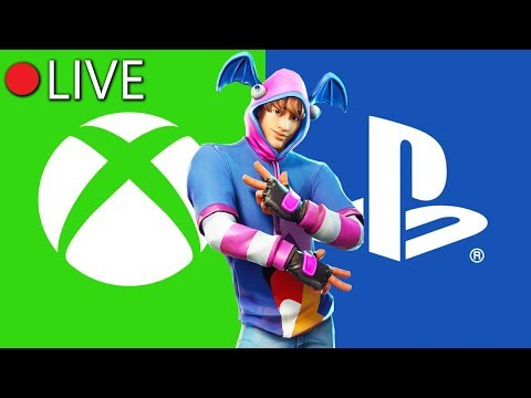 PLAYSTATION Cross-Play For Forntite Is LIVE!! (PS4 To XBOX ONE CROSSPLAY) Chaos