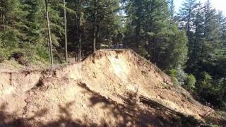"homepage tile video photo for Highway 35 ""Skyline Blvd"" Road Washout/Mudslide Drone Video"