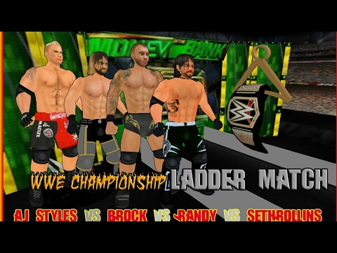 WWE Championship Ladder Match at Money in the Bank - Wrestling Revolution 3D