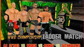 WWE Championship Ladder Match at Money in the Bank - Wrestling Revolution 3D