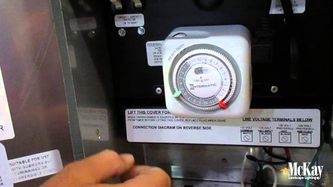 how to reset your landscape lighting timer to fall back youtube