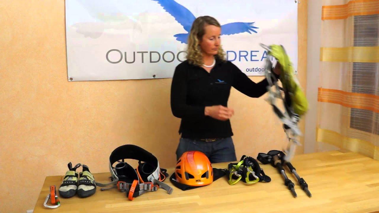 Kletterausrüstung Klettersteig : Ausrüstung für klettersteige und klettern youtube