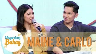 Maine pulls strength from Carlo in their movie | Magandang Buhay