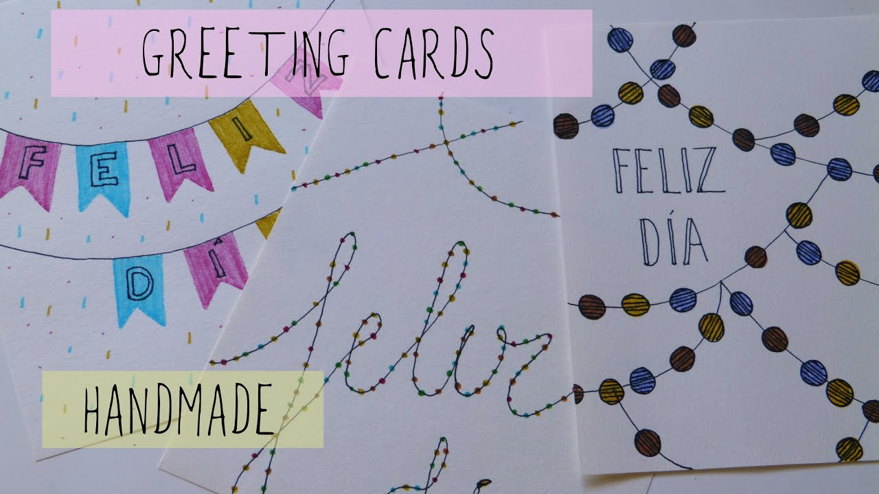 Greeting cards ideas handmade birthday christmas youtube m4hsunfo