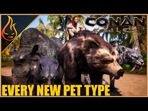 Every New Pet Their Hit Points And What They Eat | Conan Exiles 2018 Pet Update