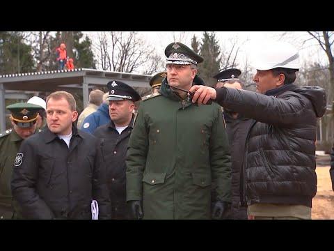 Инспекция строящегося медицинского центра Минобороны России в Подмосковье
