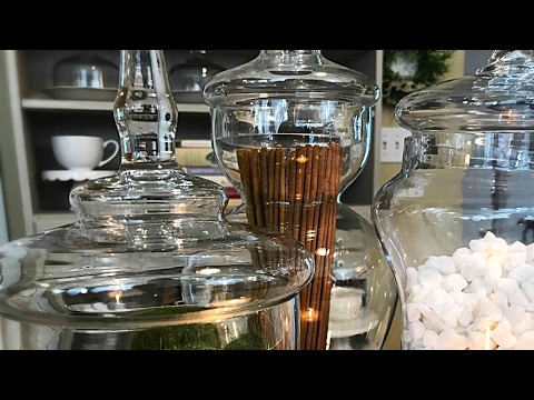 How To Decorate Using Apothecary Jars || By Adding Vase Fillers From Dollar Tree || Home Decor