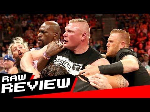 REVIEW-A-RAW 6/12/17: Lesnar & Joe brawl, Bayley's bizarre interview, Miz teams with a Bear