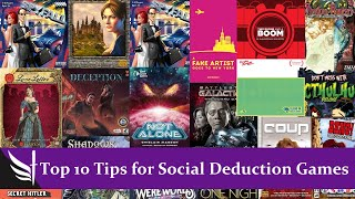 Top 10 Tips for Social Deduction Games
