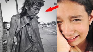 Man left his wife and daughter  20 years later, the girl met a beggar who was her father