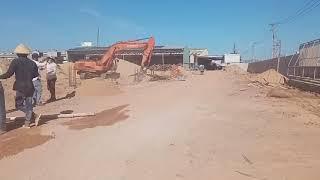 #Shorts Máy xúc đào lấp cát móng,công trường vui vẻ