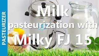 milk pasteurization with milky fj 15   mini pasteurizer