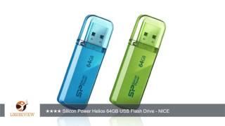 Silicon Power Helios 101 64GB USB 2.0 Flash Drive, Ocean Blue (SP064GBUF2101V1B) | Review/Test