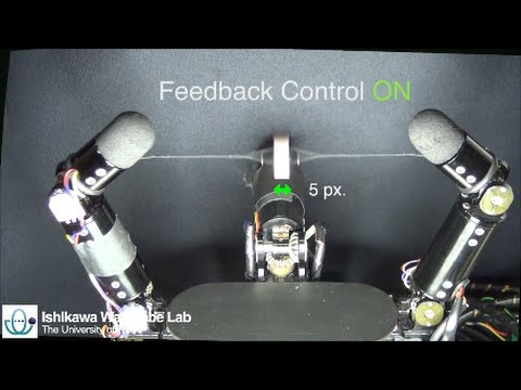 Robotic Button Spinner – Manipulation of High-speed Rotating Object via Twisted Thread