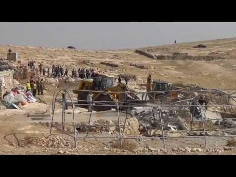 Demolitions and destruction in Mufaqara south Hebron hills 24.11.2011
