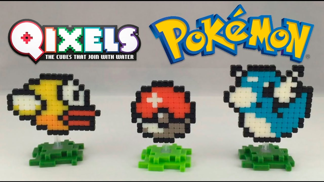 Qixels Pixel Art Pokemon Dratini Poke Ball Flappy Bird Time Lapse Build
