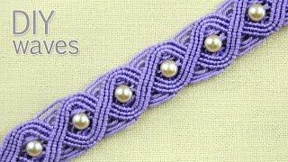 Repeat youtube video DIY Eternal Waves - Pandora Style Bracelet Tutorial