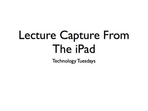 Technology Tuesdays Presentation