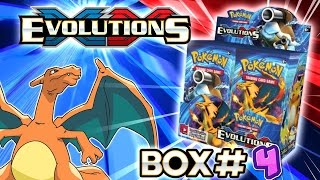 turbo opening xy evolutions booster box 4 all 36 packs pokemon tcg unboxing