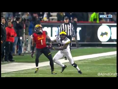 DJ Moore (Maryland WR) Vs Michigan - 2017